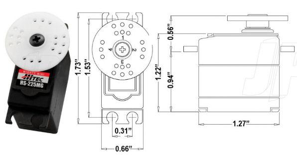 Hitec Servos Accessories Servo Arms Hitec Servos HS645MG