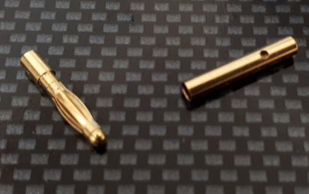 2mm Gold Connector Pair
